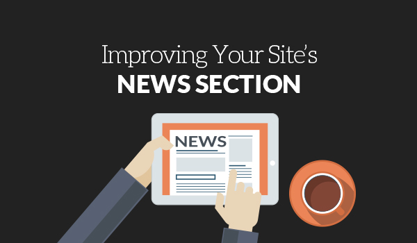 Improving your site s news section web design for News section design