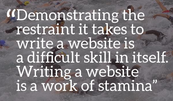 Restraint stamina website copy