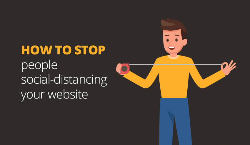 SOCIAL DITANCING YOUR WEBSITE